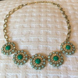 J. Crew Jewelry - Mint and pearl statement necklace